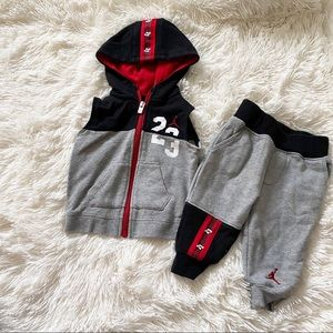 Jordan's Jogger Outfit Baby Boy Size 6-9 months